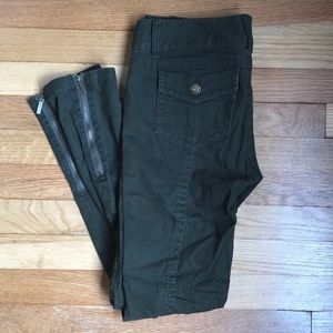Michael Kors  Army Green Skinny Jeans
